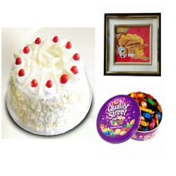 White forest cake, Chocolates & Photo Frame - Saving 6$ - COMBO2017-13