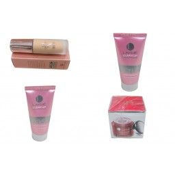 Makeup Bundle - Lakme Foundation, Light Cream, Fairness Mask & Fairness Scrub - OBCBUND1
