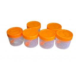 Plastic Tin 500ml 6Pcs - VLP1661