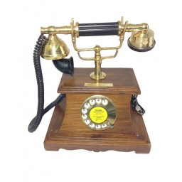 Antique Wooden Base Telephone