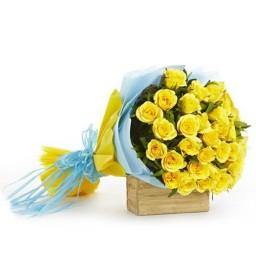 Yellow Rose Flower Bouquet - KGS-FLR105